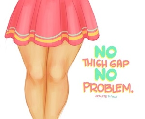 no thigh gap no problem