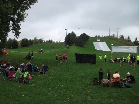 The start and finish, before the runners and zombies get going