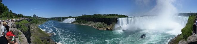 Panoramic view of Niagara Falls. Image from the race website, course details: http://niagarafallstriathlon.com/athlete-info/course-details/