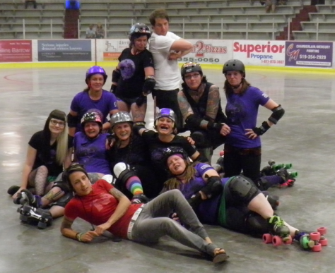 The very best murder of crows: Crow City Roller Girls.