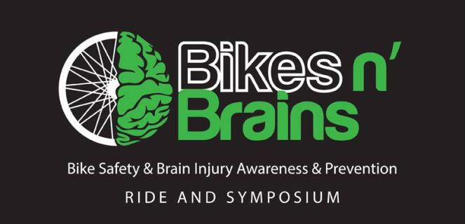 bikesandbrains poster, image of a brain