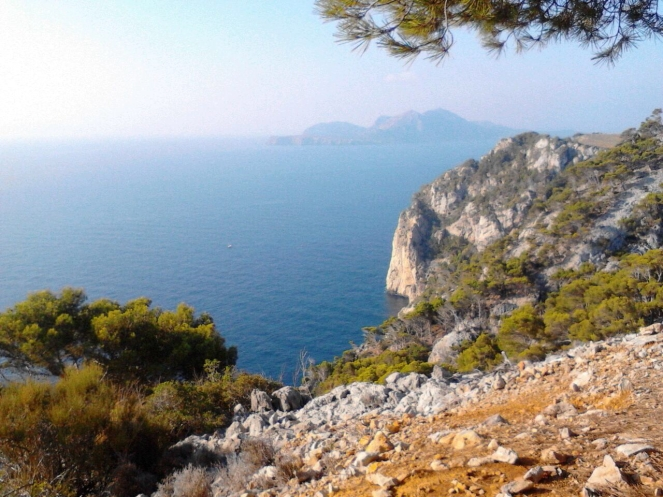 View from road on top of Cap de Formentor.