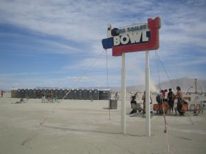 Bathrooms on the playa.