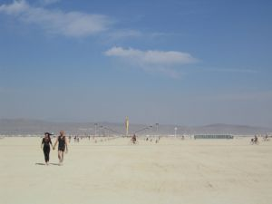 The Playa with the Man in the distance.