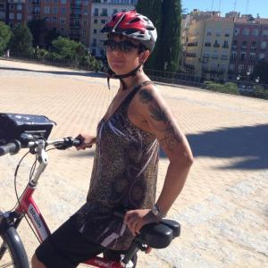 Cycling in Madrid. Photo credit: Nancy Hughes.