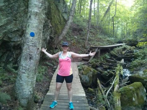 Trail running in Algonquin Provincial Park.