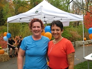 First 5K, with Sam, October 2012.