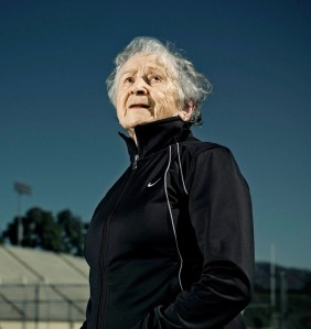 Olga Kotelko, who began her 18 year track career at age 77 and had 750 gold medals to her name by the time she died at 95.