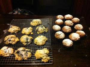 thug Kitchen's Blueberry Lavender Scones and Post Punk Kitchen's The Best Pumpkin Muffin