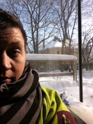 Natalie inside, -25C outside