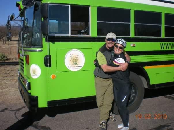 John from Southwest Trekking dispenses snacks and hugs on our bike tour