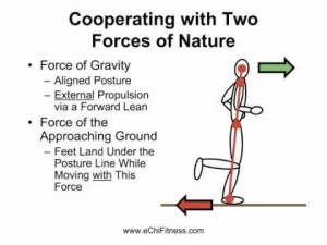 chi running diagram explaining how it works with forces of nature.