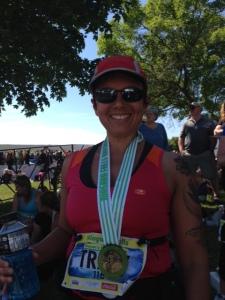 Niagara post-race medal
