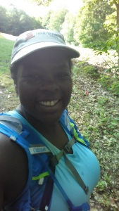 One of Mirna Valerio's selfies, used to prove that she showed up and did it! From http://fatgirlrunning-fatrunner.blogspot.ca/2015/07/thoughts-of-fatultrarunner.html
