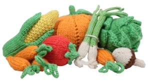 knit veggies