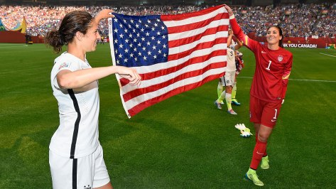 Carli Lloyd and Hope Solo, US Women's Soccer Team.