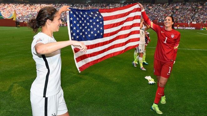 Carli Lloyd and Hope Solo, US Women's Soccer Team.