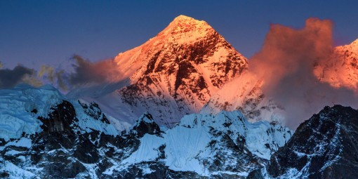 Sunset Over Mount Everest, Sagarmatha NP, Nepal