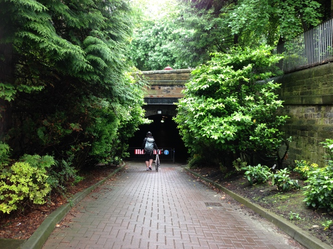 Sam at the Innocent Railway Tunnel entrance