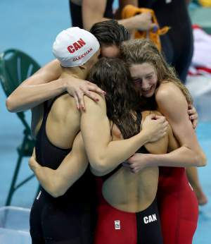 CDN women's swimming-olympics-day-1