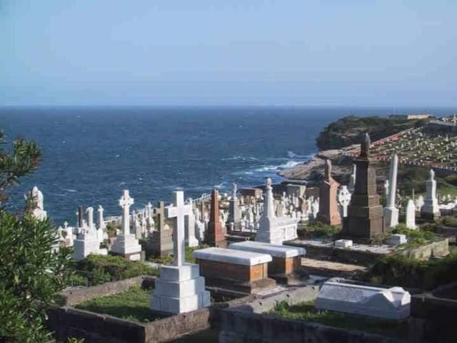 graveyard overlooking Sydney Harbour