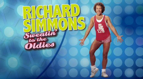 Fitness guru Richard Simmons promo advertising for Sweatin' to the Oldies