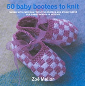 I'm on a bootee knitting kick right now and I'm using this book. Right now I'm making the denim shoes and they are adorable.