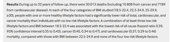 A screenshot of the results of the BMJ study; the link is included in the article.