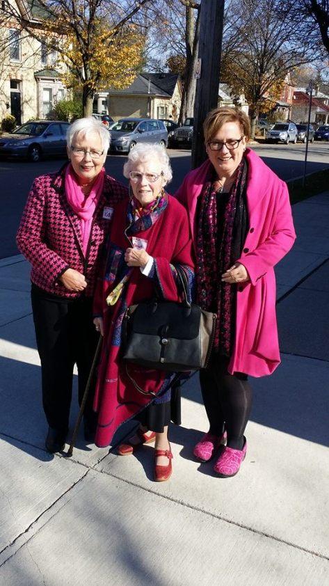 Kathleen (Sam's mum), Marion, and Sam!