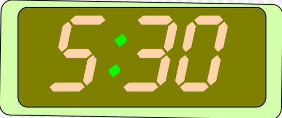 5:30am digital image