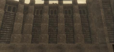 a stone bulwark-- defensive wall