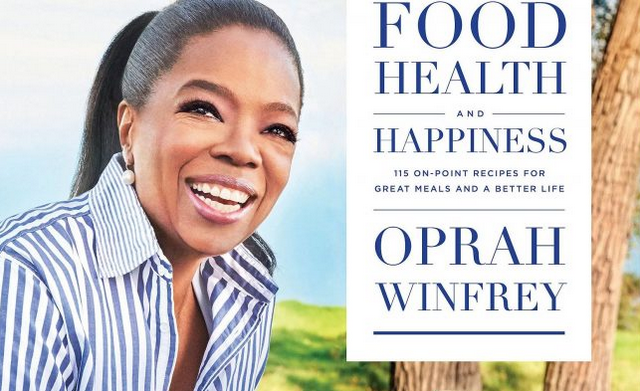 front cover of Oprah's new Food Health and Happiness cookbook