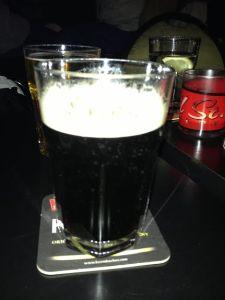 Image description: A pint of Guinness