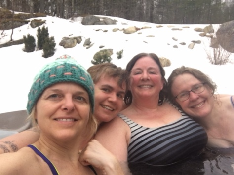 Hot tub fun with friends