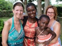 Me, my sister, my sister-friend Tina, and Tina's daughter Nana