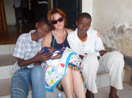 Me, kagame, Andrew and baby Nana 5 years ago