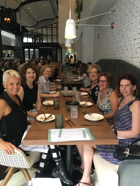 The group at Planta in Toronto. From left front around the table to the right front: Tracy, Violetta, Sarah, Sam, Cate, Susan.