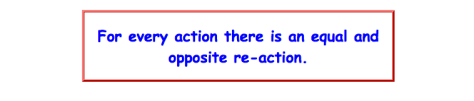 "Newton's third law of motion, which reads ""for every action there is an equal and opposite reaction""."