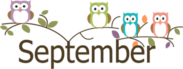 Image description: cartoon of four owls (purple, green, blue, and peach) sitting on branches over the word