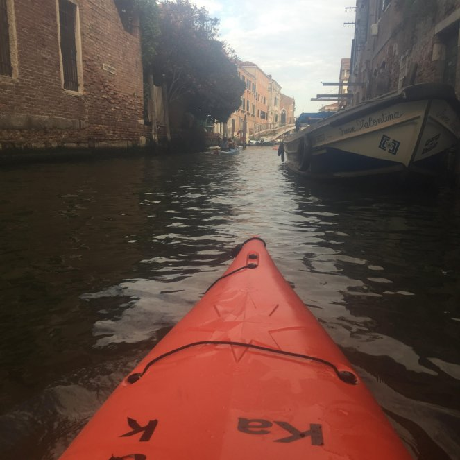 Kayaking in Venice in 2017