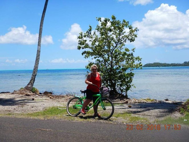 Biking on Bora Bora