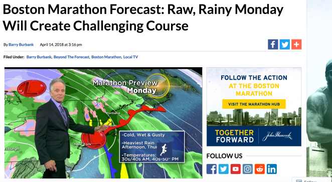 Boston Marathon forecast: raw, rainy Monday will create challenging course