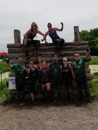 the team at finish