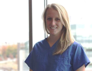 Dr. Abby Johnston, then a medical student