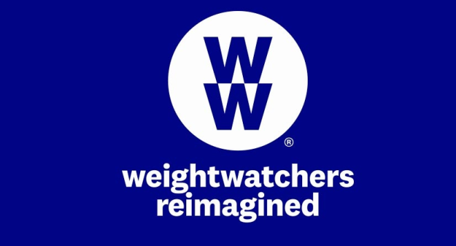 "The new name of Weight Watchers, which is WW-- two Ws, one on top of the other, in a circle. Then the words ""weight watchers reimagined."" I can't make this stuff up."