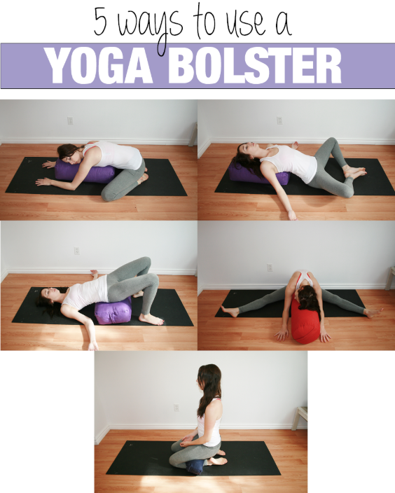 5 ways to use a yoga bolster, by Kassandra.