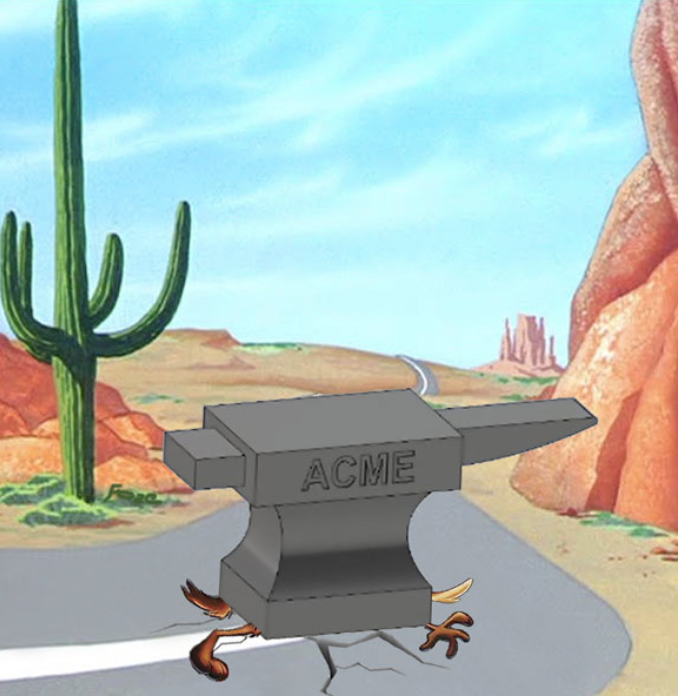 Wile E. Coyote. Don't worry, he'll be fine.