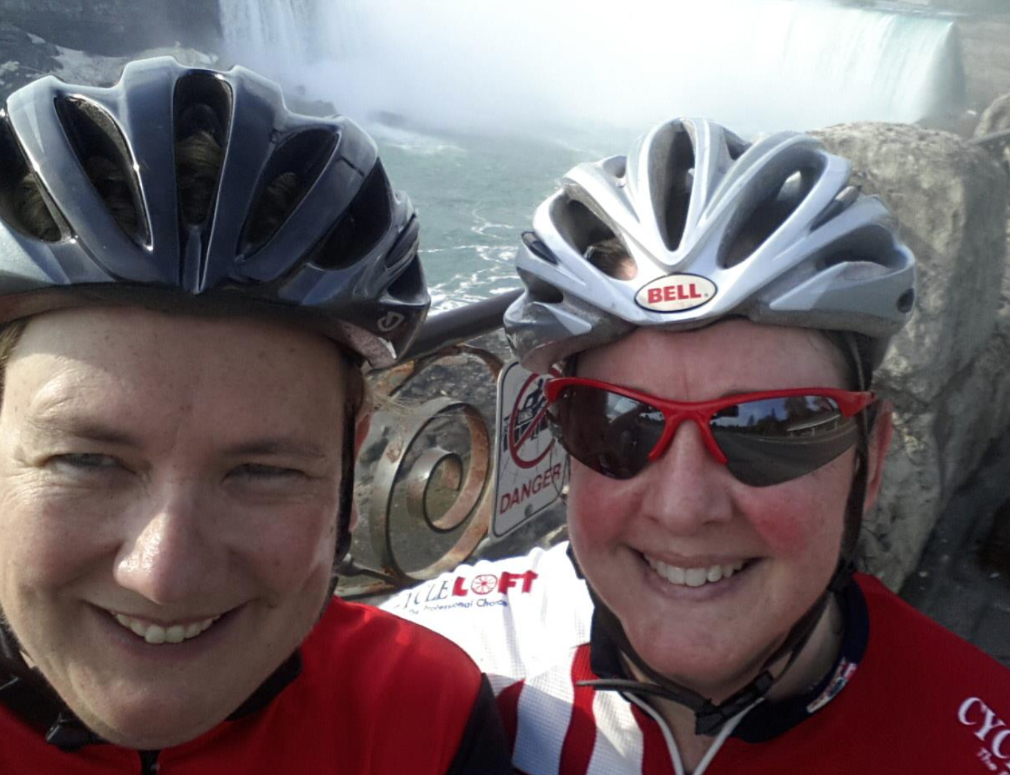 Samantha and me, biking to and from Niagara Falls, 2014.