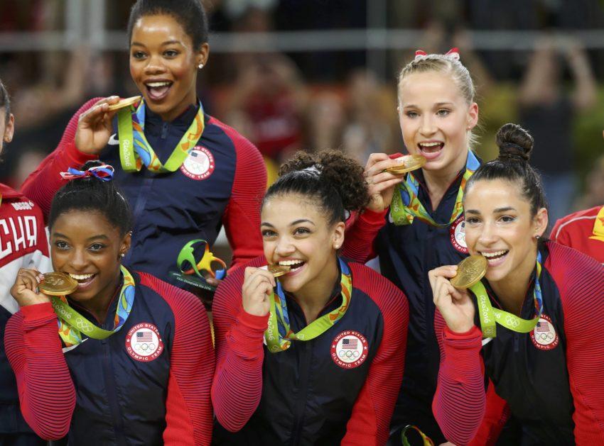 2016 Rio Olympics - Artistic Gymnastics - Women's Team Victory Ceremony
