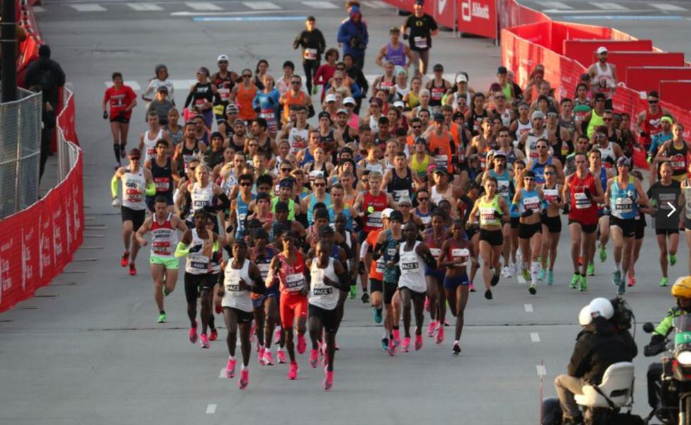 Start of the 2019 Chicago Marathon